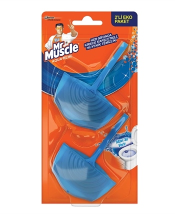 Mr.Muscle Aqua Blue Klozet Blok 2'li Paket